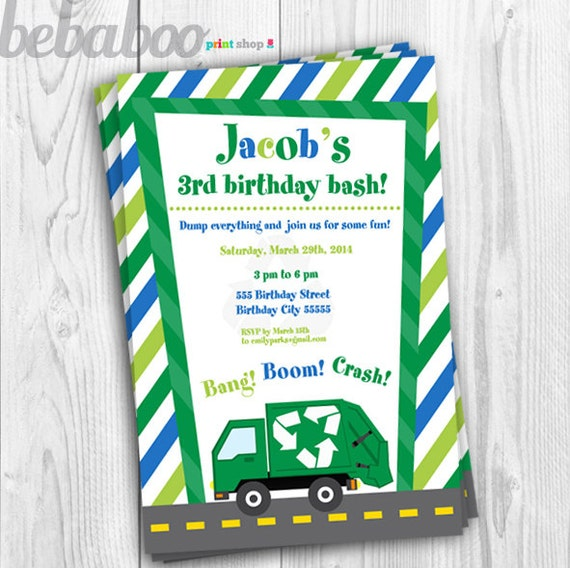 Garbage truck invitation garbage truck invitation garbage garbage truck invitation garbage truck invitation garbage truck birthday invitation garbage truck birthday garbage truck printable filmwisefo Image collections