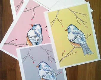 Thank You Notes, Thank You Postcard Set, Bridal Shower Thank Yous, Baby Shower Thank You, Graduation Gift, Illustrated Postcards, Bird Lover