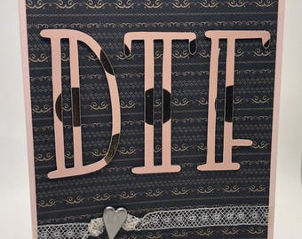 DTF Handmade Romantic Card