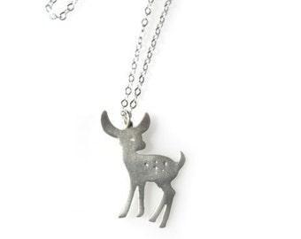 Sterling  Silver Deer pendant