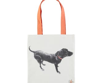 Black Labrador Tote Bag
