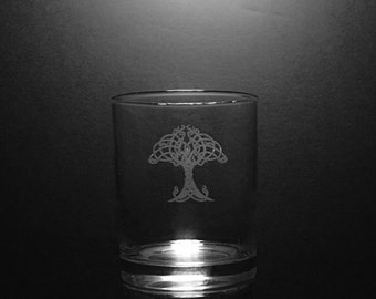 Irish Tree Of Life Old Fashion 13 Ounce Rocks Glass