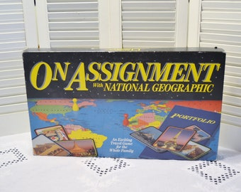 Vintage On Assignment Board Game National Geographic Learning Game 1990 PanchosPorch
