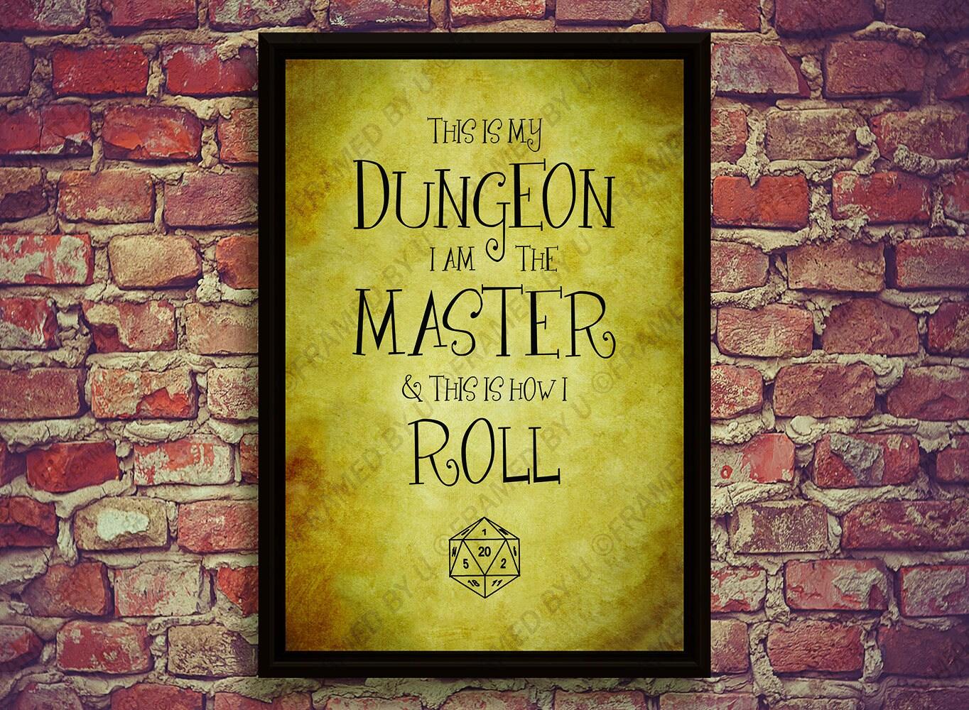 Dungeon and Dragons Decor Twenty Sided Die Geek Gamer Wall Art