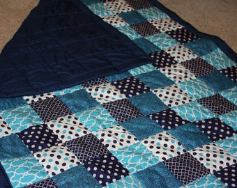 Variety of Blues Quilt