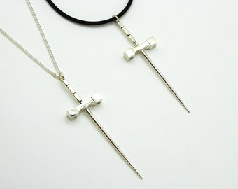 Official Bold & the Beautiful Sword, Sword Pendant, Spencer Sword Pendant, Spencer Necklace, Sterling Silver Toothpick Sword Necklace©