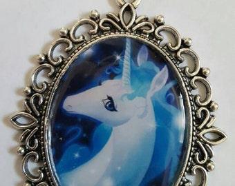 The Last Unicorn cameo necklace