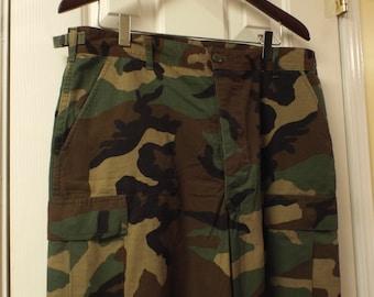 Men's Military Pants Camouflage Woodland Combat Pants Mens Vintage Camo Pants