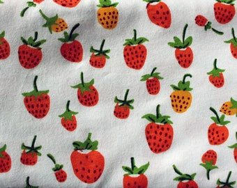 KNIT fabric Heather Ross Briar Rose berries orange One Yard or more OOP HTF