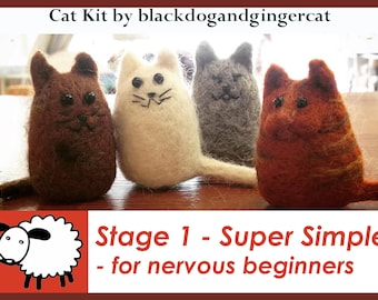 Cat Needle felt kit - great for beginners