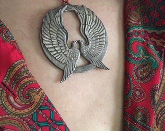 Wallace Sterling Doves Pendant