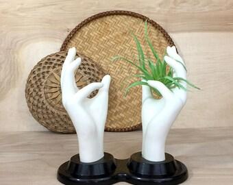 Mannequin Hands Store Display Stand • Jewelry Display • Vintage Hands • White Hands Figurine