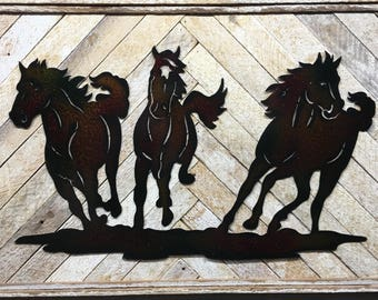 Rustic Horse Decor, Horse Decor, Horse Wall Art, Horse Wall Decor, Cabin