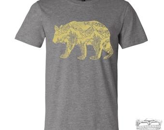 Mens California BEAR T Shirt s m l xl xxl (++ Color Options) custom