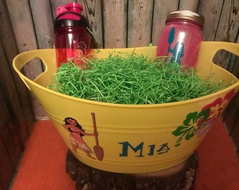Moana Gift Basket, Moana Easter Basket, Custom Gift Basket, Moana Gift Set, Personalized, Moana, Moana Nightlight, Moana Water Bottle, Kids
