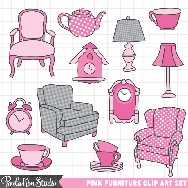 Antique Furniture Clipart Clip Art Antiques Pink And Gray