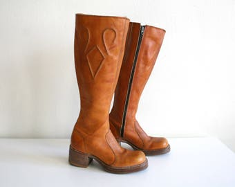 Frye 70s Tall Campus Boots 6