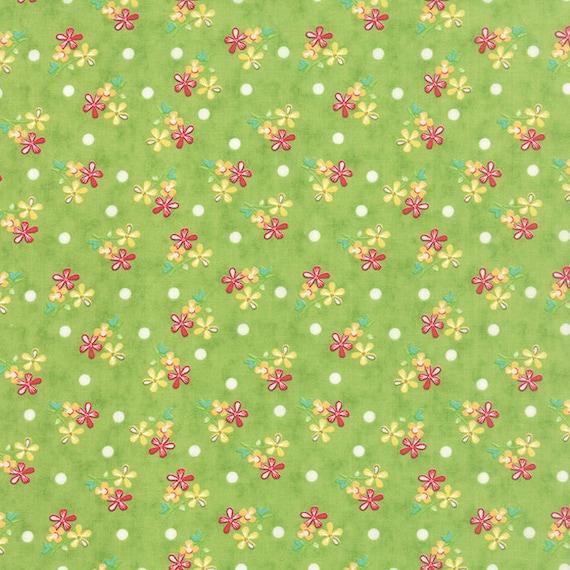 Corey Yoder Little Miss Shabby Prairie Sprigs Green Quilt Fabric. 29003-17