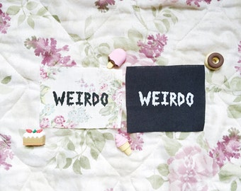 Weirdo- Handmade Feminist Sew-on Patches