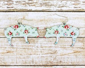 Piggy Floral Earrings
