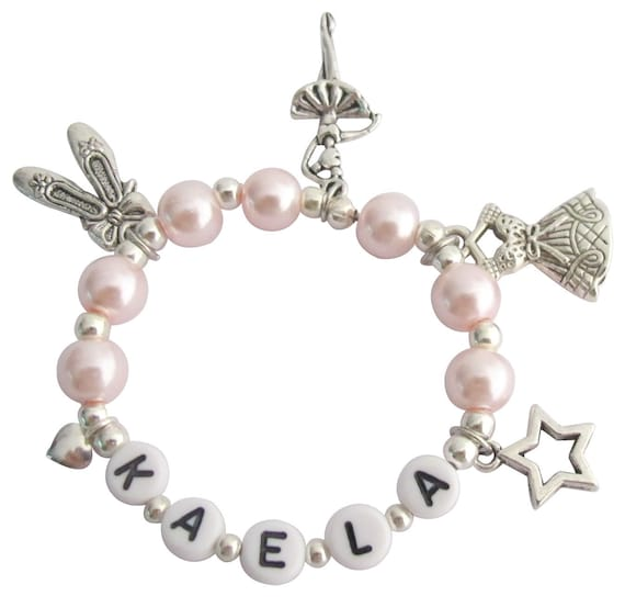 Ballet Charm Bracelet: Ballerina Jewelry Pink Pearl Ballet Girls Dance Recital Girls