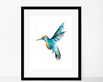 Framed Kingfisher Watercolour Print