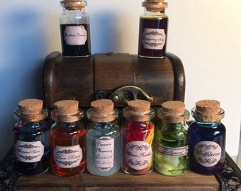 Mini potion set collection in little trunk chest Christmas Birthday Halloween Party