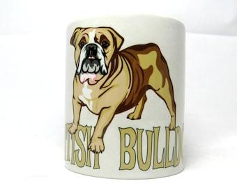 British Bulldog Mug, English Bulldog, British Bulldog Gift.