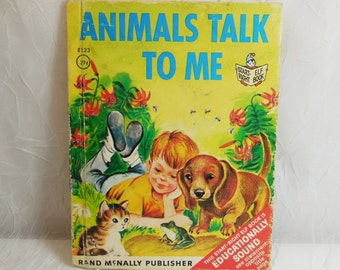 Animals Talk to Me - Start Right Elf Book 8133 Vintage - Rand McNally 1963