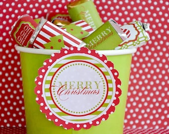 Traditional Christmas PRINTABLE Party Candy Bar Wrappers (INSTANT DOWNLOAD) by Love The Day