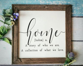 Home Definition Sign // Home Decor Sign // Farmhouse Decor // Farmhouse  Sign // Farmhouse Wall Decor // Home Wall Decor // Canvas Quotes