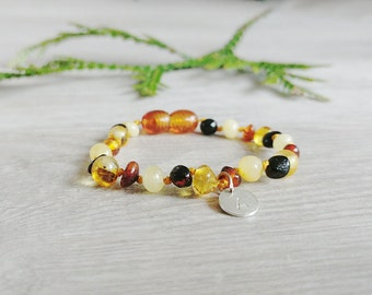 Personalized Baby amber bracelet from genuine Baltic amber