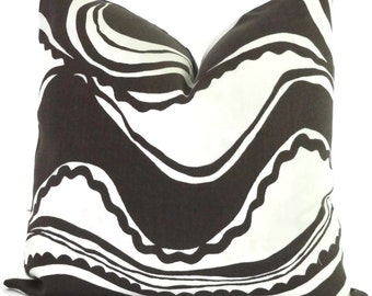 Trina Turk Tobacco Carmel Coastline Indoor Outdoor Pillow Cover, Schumacher, 18x18, 20x20, 22x22 or 14x20
