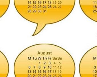2018 Calendars Printable Mini, For Crafts, Planners, PDF File, 2018 calendar, calendars, Digital Download, Printable, Instant Download,