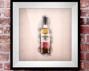 Tomatin 1988 - Crosshatch Whisky Wall Art