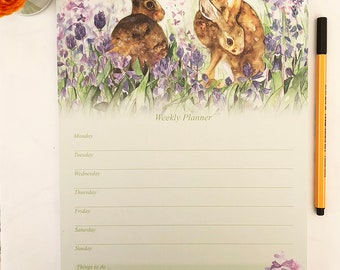 Hare in the Bluebells - Weekly Planner