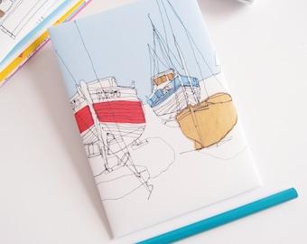 Fishing Boats - Printed Postcard