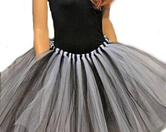 Adult or Child Black and White Tutu Skirt