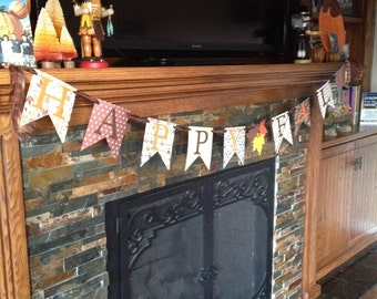 Happy fall banner, fall banner, autumn banner, home decor banner