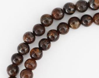 Bronzite Beads - 4mm Round