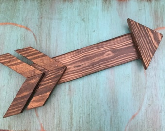 Wood, Sign, Arrow, Wall Decor, Gallery Wall, Stained Wood