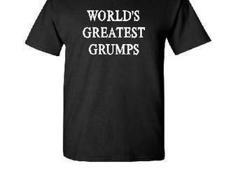 World's Greatest Grumps - Silkscreen T-Shirt Silk Screen Handmade Graphic Tees Tshirt Kids Women Men S-M-L-XL Shirt