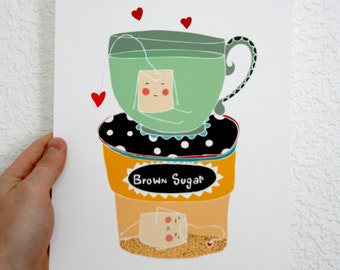 Kitchen Print - Tea Bags-