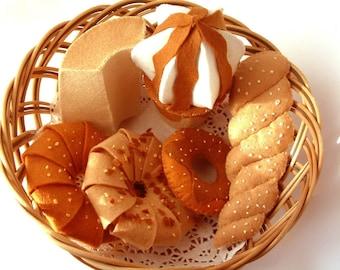 DIY felt Donuts,Chiffon cake,ice cream---PDF Pattern via Email--F08