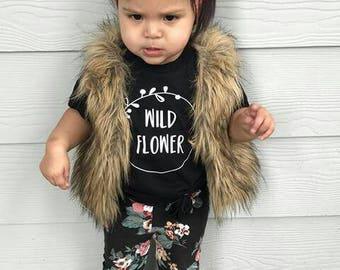Wild Flower Shirt, Wild Flower Onesie, Flower Shirt, Flower Onesie, Baby Shower Gift, Expecting Mom Gift, Boho Baby Gift, Boho Baby
