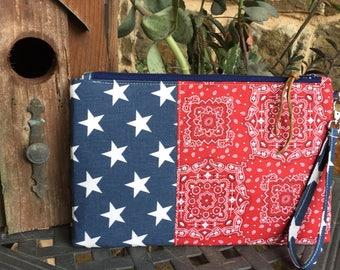 Patriotic Clutch/Wristlet/Kindle Case