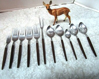 CHOICE Vintage Serving Pieces, Danish Modern Flatware, Ekco / Epic Spoon Fork, Stainless Flatware Silverware Flat Ware Completer Pieces