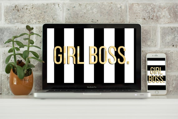 Girl Boss Computer Desktop Wallpaper Laptop Background