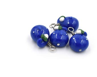 Polymer Clay Blue Water Pikmin Charm
