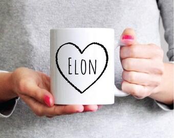 Elon Mug - Funny Coffee Mug - Elon Ceramic Mug - Funny Mug - Girlfriend Gift Sister Gift Coworker Gift
